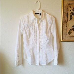 New York & company dressy blouse button down